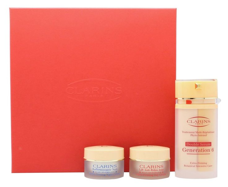 Clarins Multi-Regenerante Gift Set 30ml Double Serum Generation 6   15ml Extra-Firming Day Lifting Cream   15ml Extra-Firming Night Rejuvenating Cream