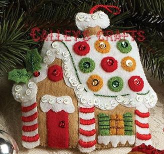 Bucilla Christmas Cookies Felt Ornament Kit 86148 6 Piece Santa Baking | eBay