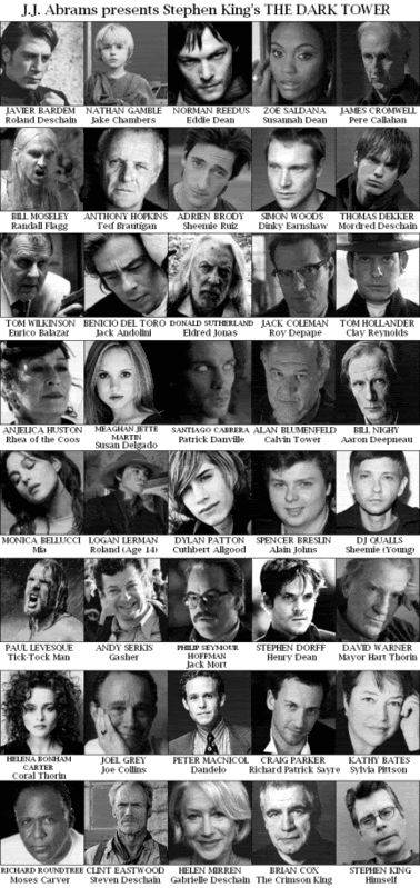 JJ Abrams take on the Dark Tower cast. Interesting.  How good would THIS movie be! Only with Viggo Mortensen as Roland and Daryl Dixon as Eddie Dean, shut up!!