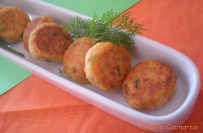 Polpettine di pesce spada e merluzzo al forno (meatballs swordfish and cod)