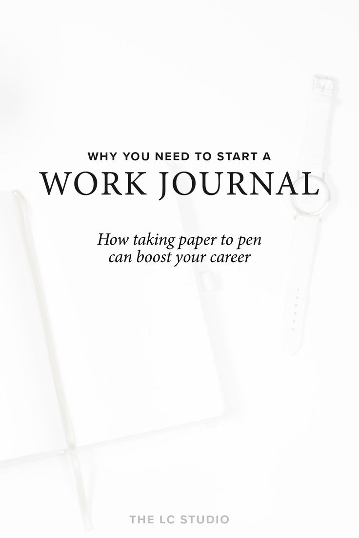 A work journal can serve so many purposes – relaxation, focus, and catharsis, just to name a few. It might even be the key to succeeding in your career. | Read more from The LC Studio →