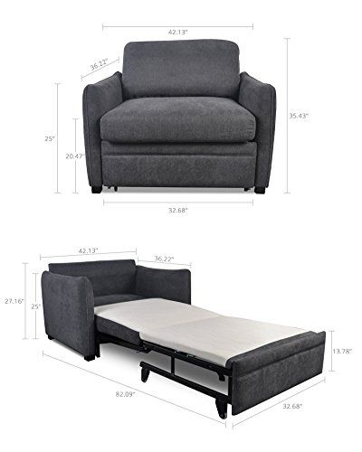 Modern Functional Lift And Pull Out Single Couch Sofa Bed Futon Easy To Transform For Small E