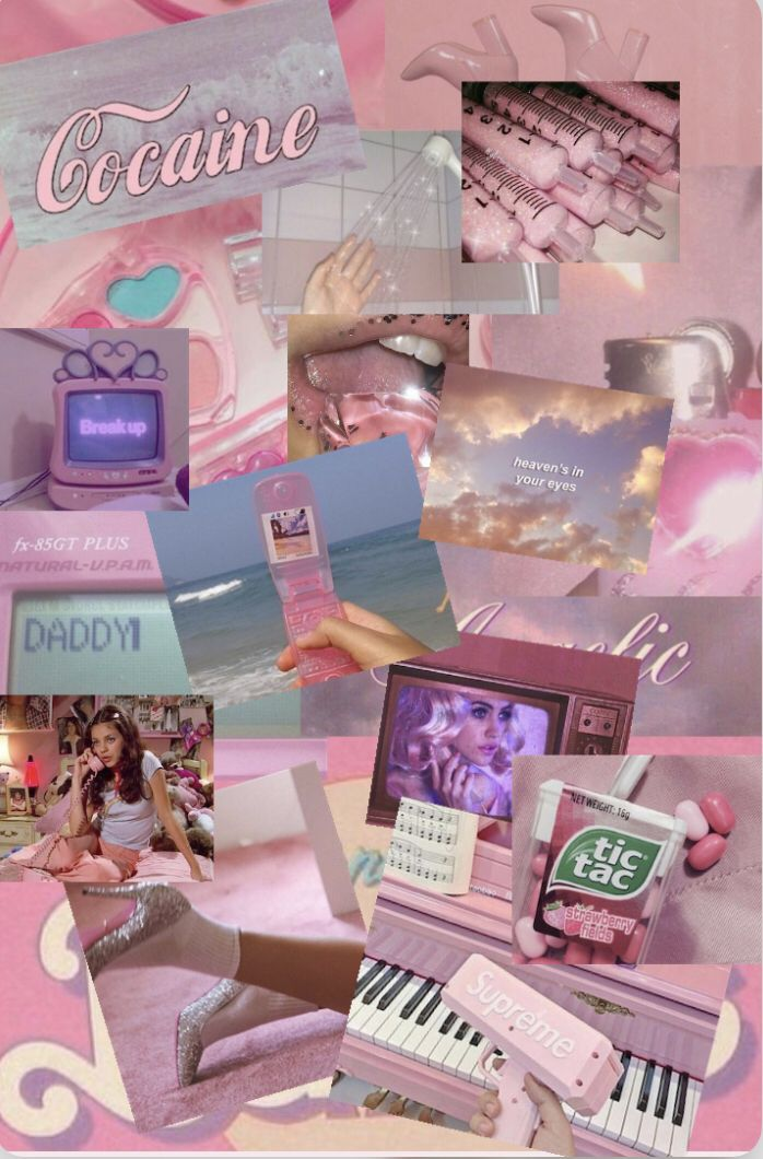 Pastel 90s 80s Aesthetic Pink Purple Aesthetic Collage