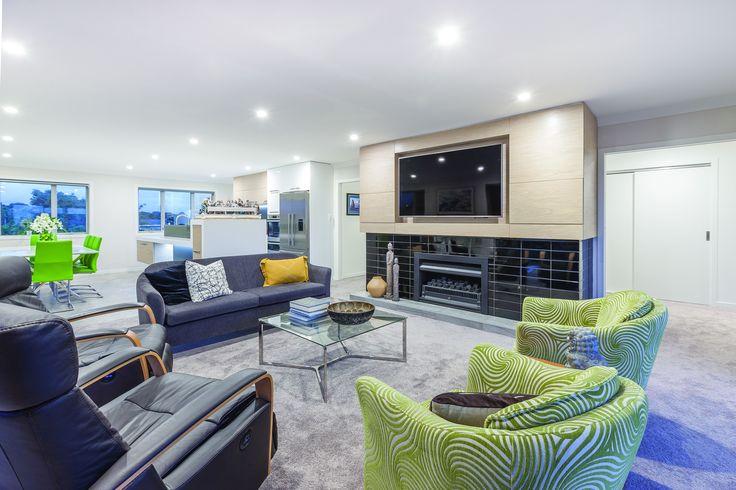 A very modern living room designed by Tony Biesiek from Imagine Building Design #ADNZ #architecture #livingroom