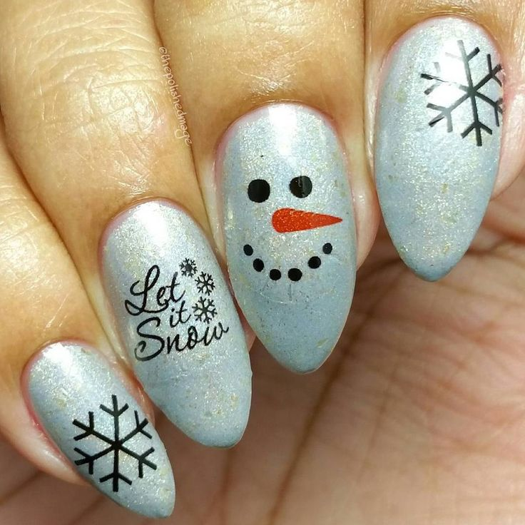 Christmas Xmas Nail Art Snowing Snowflakes Let It Snow Snowman Water Decals Nail Transfers Wraps