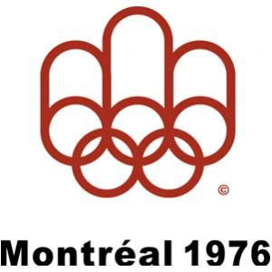 Official logo for the Olympic games in Montréal, 1976