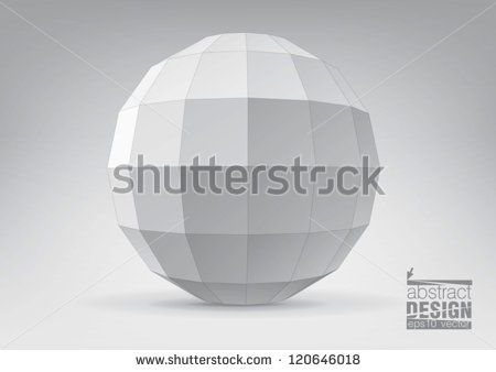 Sphere with rectangular faces, you can change colors