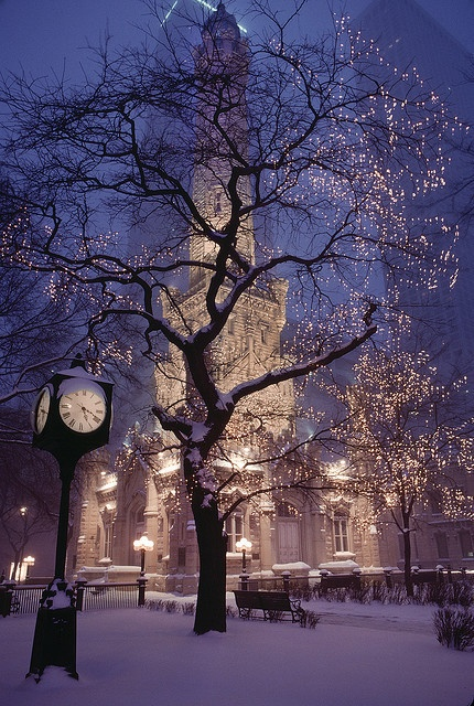 Water Tower: Sweets Home, Water Towers, Christmas Time, Snow, Christmas Lights, Winter Wonderland, Places, Chicago