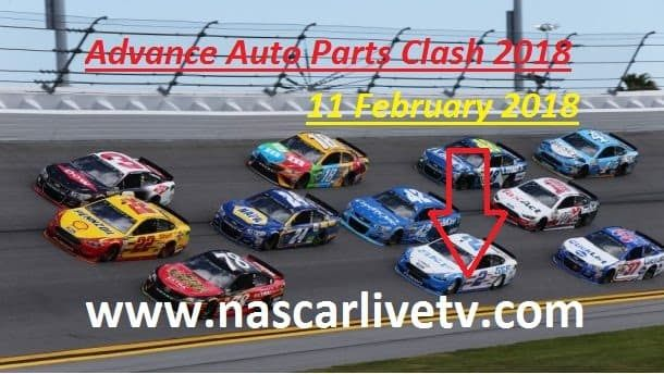 NASCAR Advance Auto Parts Clash 2018 Live    Race Name: Advance Auto Parts Clash  Track: Daytona International Speedway  Event: Monster Energy NASCAR Cup Series  Date:  Sunday, February 11, 2018  Race Time: 3:00 P.M ET (FS1)