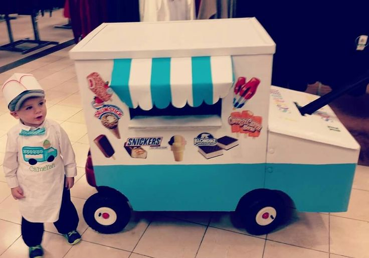 Ice cream man halloween wagon costume