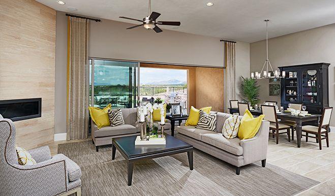 This Elegant Great Room In Tucson Az Features Neutral