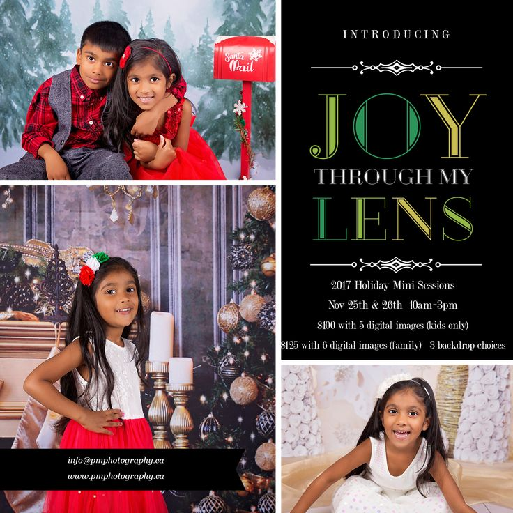 2017 Holiday Mini Session details are up on the blog. Limited spots available, only a few remain for Nov 26th. #Christmas2017 #HolidayMiniSession #ChristmasPhotos #HolidayPhotos #ChristmasCards #bramptonphotographer #caledonphotographer #mississaguaphotographer #southfieldvillage For more info, visit our blog: http://www.pmphotography.ca/blog