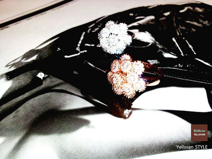 Red gold & Silver blossom Rings