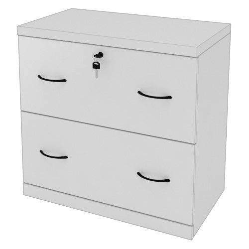 Z Line 2 Drawer Lateral File White Filing Cabinet