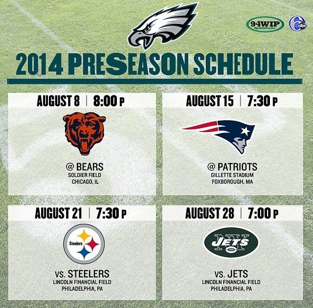 #Eagles preseason dates and times are set. #FlyEaglesFly