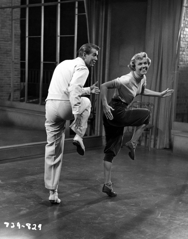 """Doris Day and Gene Nelson in """"Lullaby of Broadway"""", 1951."""
