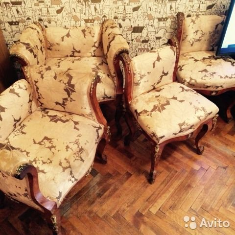 Старинное кресло 19 век (розовое дерево, бронза) — фотография №1