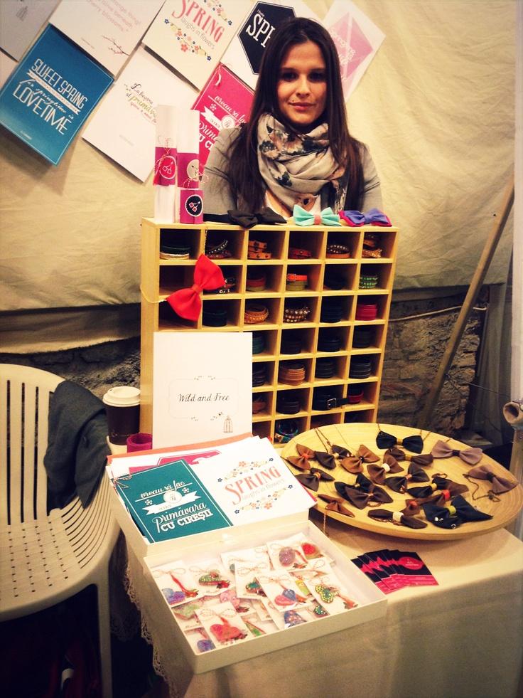 Cireșica Louana a Cherry & Cherry PRINTS @cherrycherry90 la Targul de Martisul de la Casa TIFF | #cherry, #prints, #quotes, #handmade, #fair