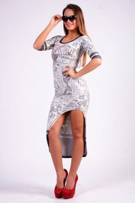 Šedé teplákové dámské šaty RAW Love s kamínky