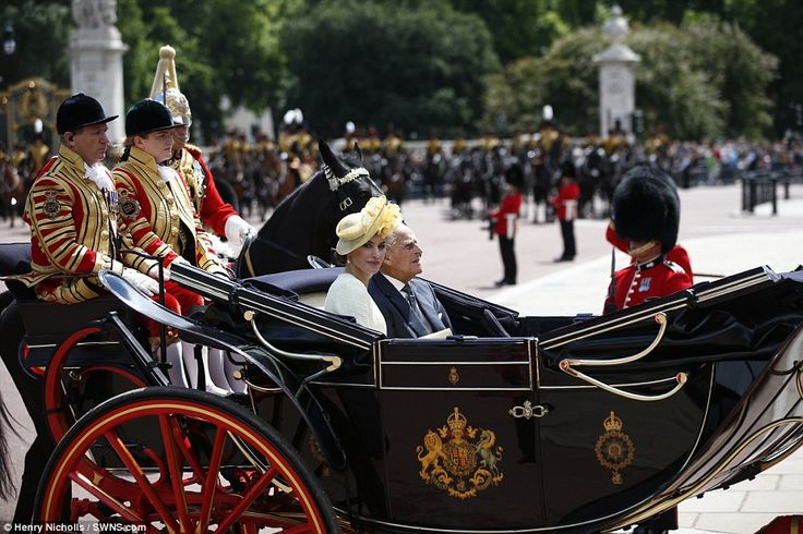 Crowds lined the street while the Royal procession were flanked by members of the Scots an...