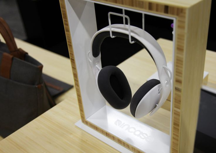 Incase Project Booth headphone display by Cinco.  Simple and premium.