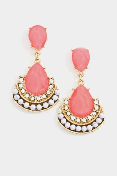 Bright Coral earrings