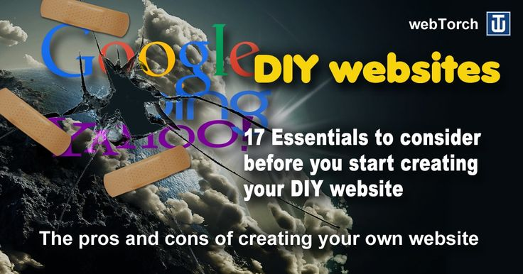 17 Essentials to consider  before you start creating your DIY website