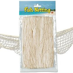 $4.50 for some fishing netting is cheap to get that Pirate Look. #NauticalParty