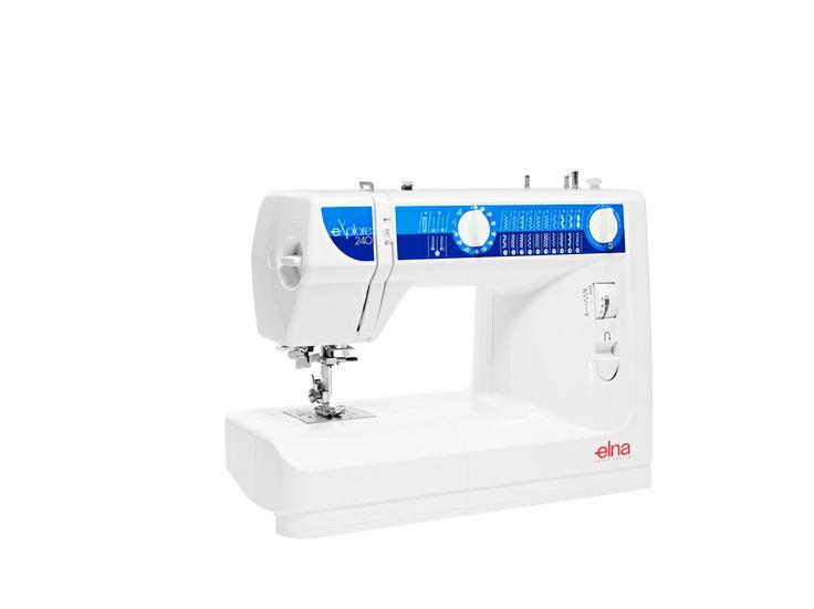 The eXplore 240 mechanical sewing machine is the key to genuine enjoyment. #Elna #sewingmachine #eXplore240