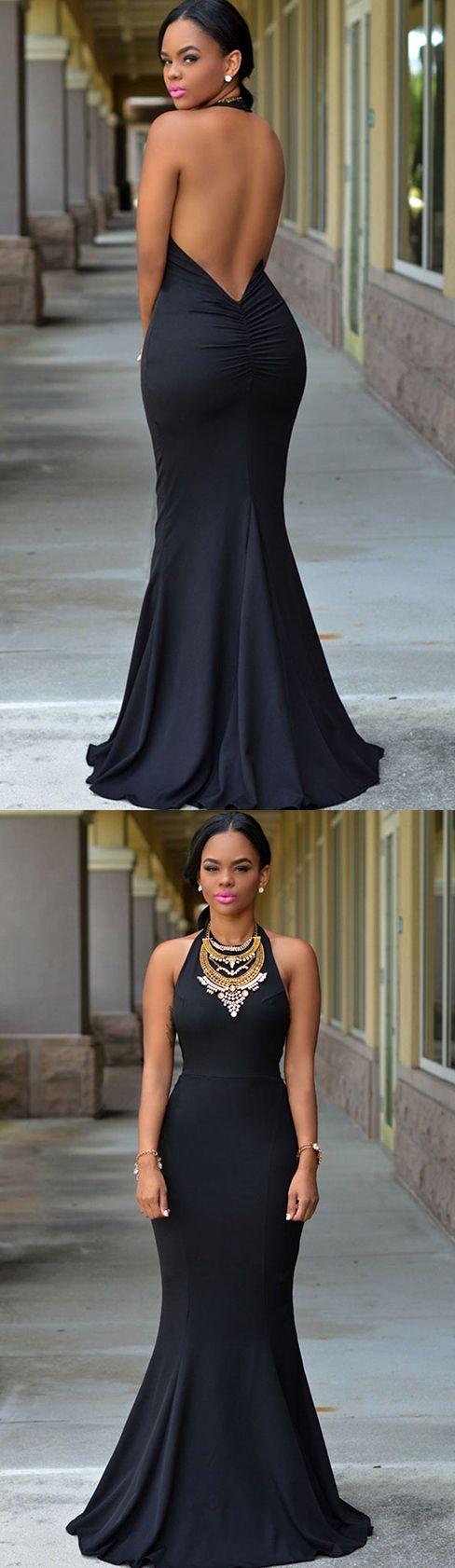 $44.99 Halter Daring Back Gown