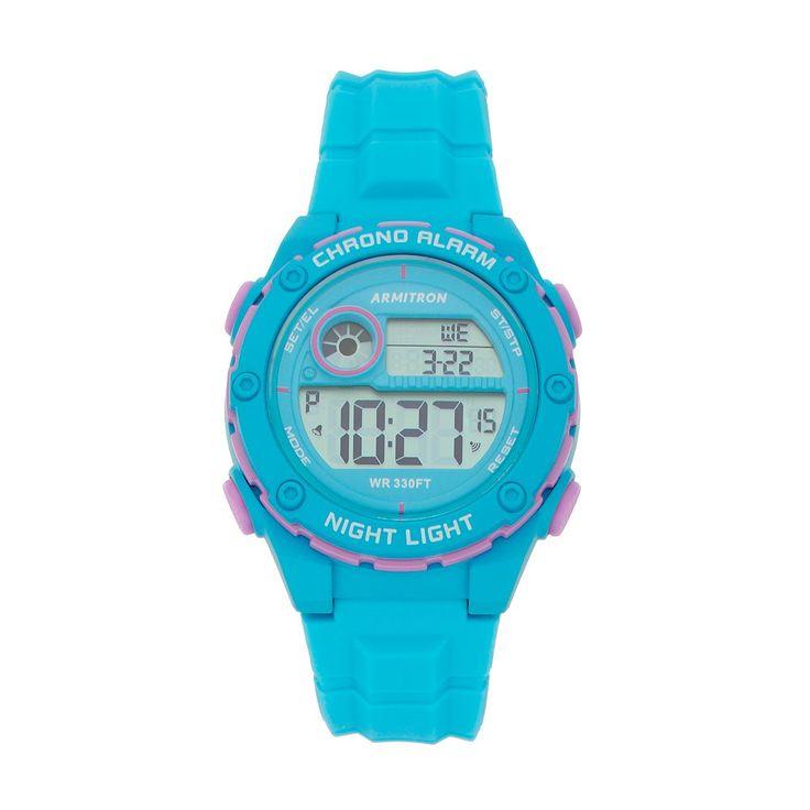 Armitron Women's Digital Chronograph Sport Watch - 45/7084LBL, Size: Large, Blue