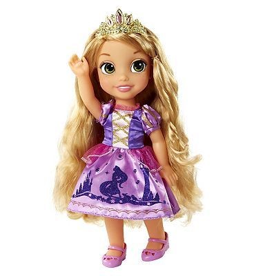 Disney Princess My First Disney Princess Rapunzel Toddler 10159605 100 Advantage card points. Every day is an adventure with Rapunzel by your side! My First Disney Princess Rapunzel Toddler is an adorable doll set with your favourite Disney princess re-imagined as a  http://www.MightGet.com/april-2017-1/disney-princess-my-first-disney-princess-rapunzel-toddler-10159605.asp