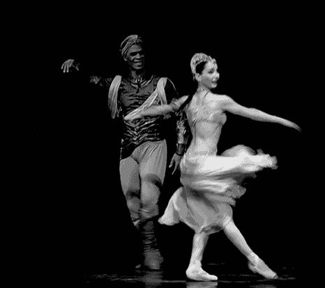 Tamara Rojo and Carlos Acosta as Nikiya and Solor in La Bayadère