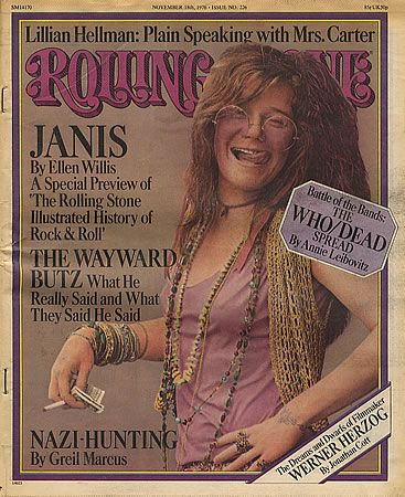 This cover matches janis personality, the raspy voice and the raspy colors and typeface are super cohesive and smart