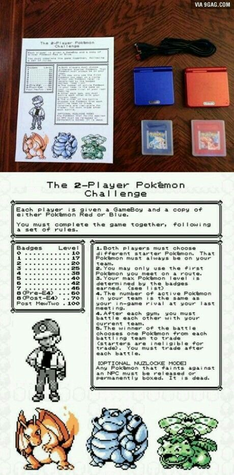 I think you could do this with other Pokémon games, by eh...