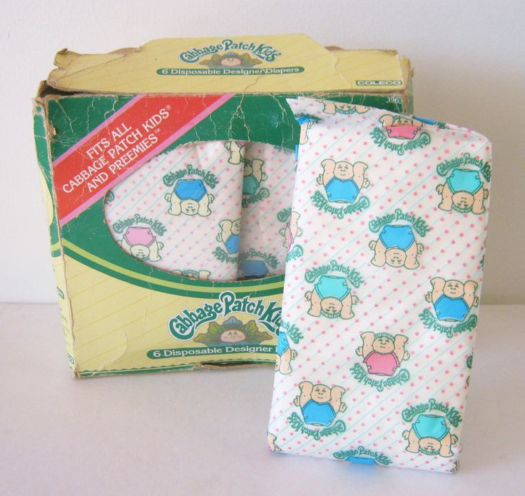 Of course you had to have Cabbage Patch Kids Doll Diapers if you had a Cabbage Patch kid!