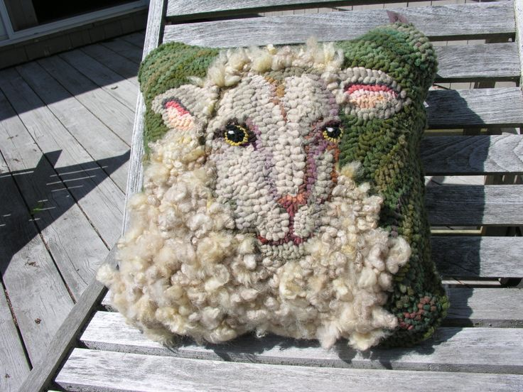 Liz Stoyko Wool Hooked Pillow Rug Hooking Designs Rug Hooking Rug Hooking Patterns