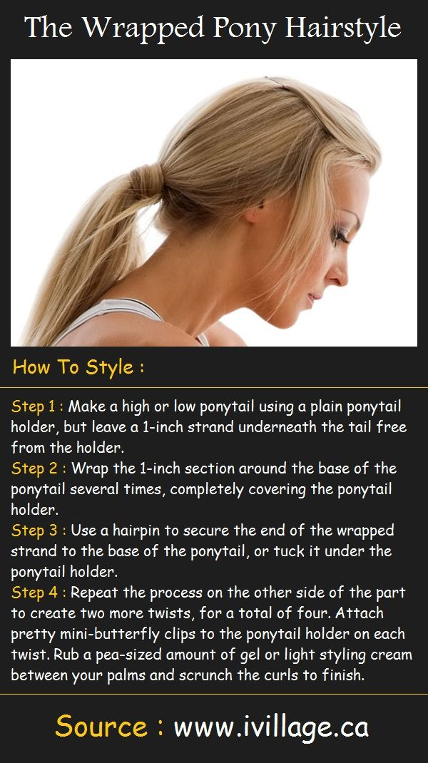 The Wrapped Pony Hair Tutorial | Beauty Tutorials - bit confused about the final step
