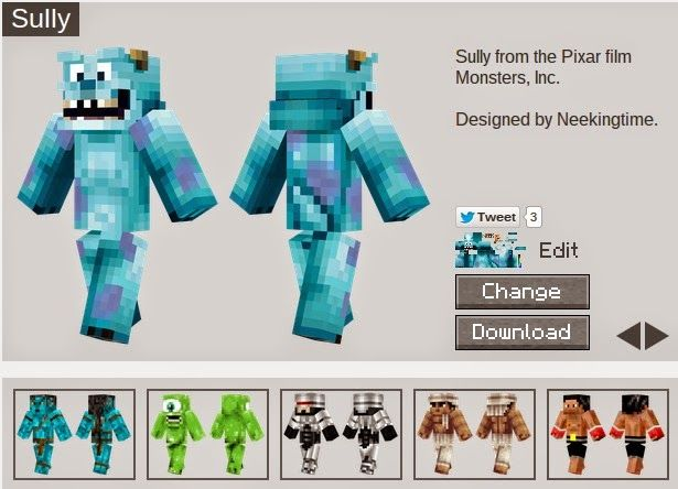 Where can you find the best Minecraft Skins? My kids know, so we compiled a list for you. I am partial to Sully from Monsters Inc. http://www.kidscreativechaos.com/2014/11/where-to-find-minecraft-skins.html #coolminecraftskins #thebestminecraftskins