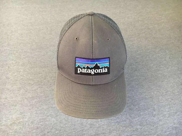 PATAGONIA Snapback Hat Big Label Grey Trucker Mesh Outdoors Biking Hiking Cap #Patagonia #Trucker #90sfashion #outdoor #hiking #biking