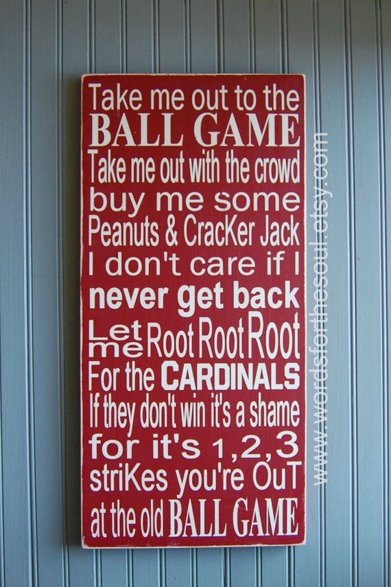 St Louis Cardinals World Series Take Me Out to The Ballgame