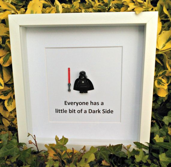 Darth Vader Brick Figure Gift for Him Star by DanMakesWithLove