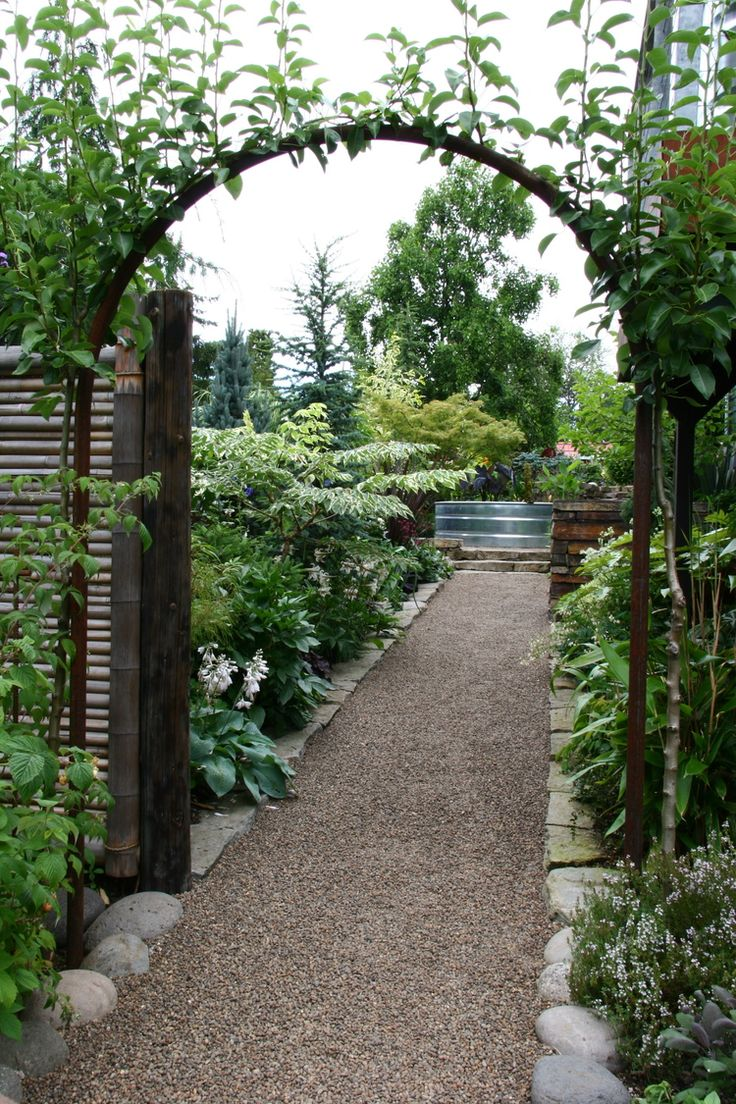 Pea Rock Walkway Plank On : Best images about gravel in the garden on pinterest