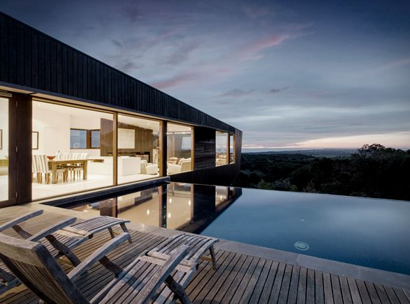 The Cape Schanck House is a unique and adventurous project by Melbourne-based architecture studio Jackson Clements Burrows. The 4,300 square-foot contemporary house is as dramatic as the surrounding landscape of Cape Schanck, in Victoria Australia. T