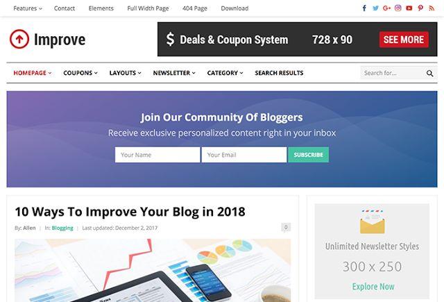 Download Improve WordPress Theme - HappyThemes