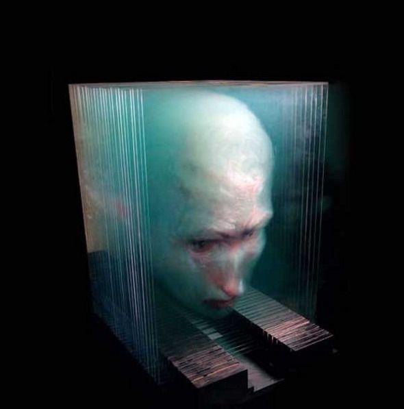 peinture 3d verre 02 Peintures en 3D sur plaques de verre art