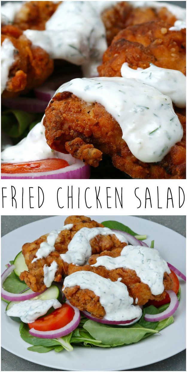 Fried Chicken Salad | Buttermilk-Fried Chicken Makes This Salad 100 Times Better