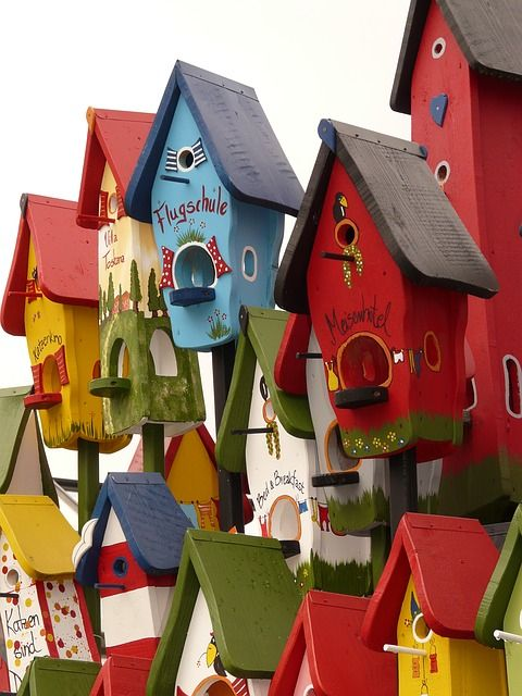 colorful birdhouses. **These are so lighthearted, and fun! **We offer Custom Picture #Framing and Bespoke #ArtRestoration! Visit our #Art Lounge: 310 Via Vera Cruz Suite 112 San Marcos, CA 92078 Call: (760) 295-7788 Twitter: www.twitter.com/AFrameOfArt Pinterest: http://www.pinterest.com/aframeofart/boards/ Our Home: www.AFrameofArt.com