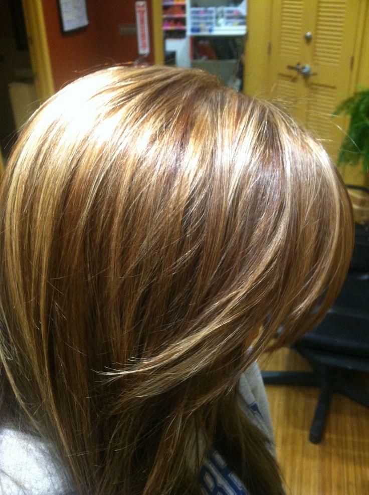 Ashley's blonde highlights