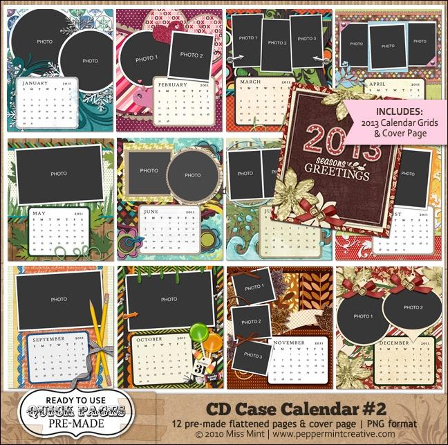 Cd case calendar 2 quickpage